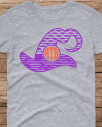 HA104-Witches Hat Monogram T-shirt