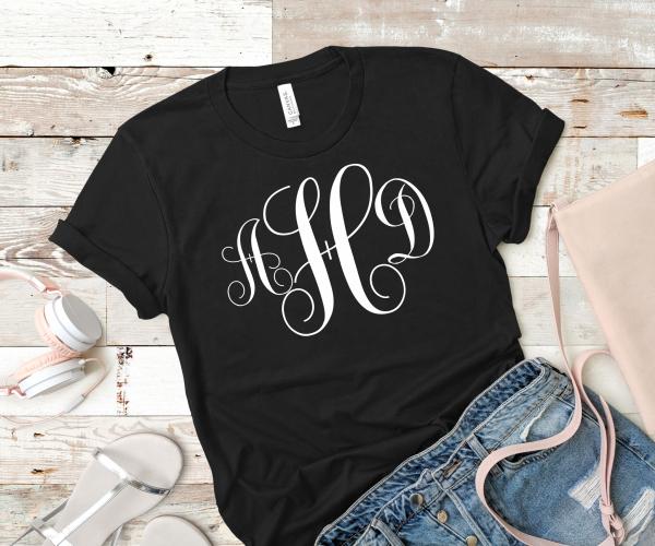 Monogrammed tshirt