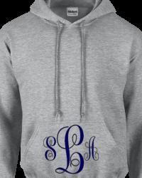 MO101-Fancy Swirl Monogram Sweatshirt