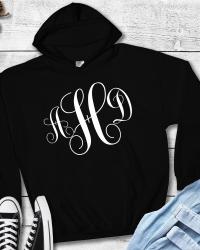 MO102-Fancy Swirl Monogram Hoodie