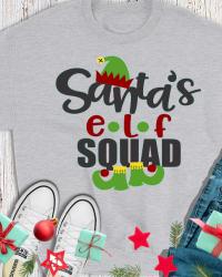 CH503-Santa's Elf Squad Sweatshirt