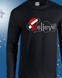 CH508-Glitter Believe Long Sleeve Tshirt