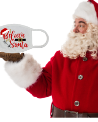 CH505-I Believe in Santa Face Mask