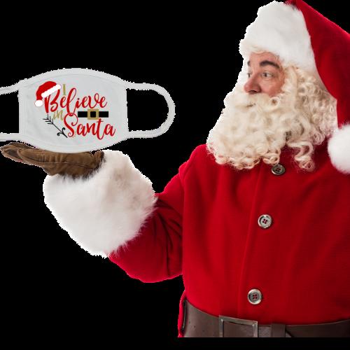 I Believe in Santa Mask White