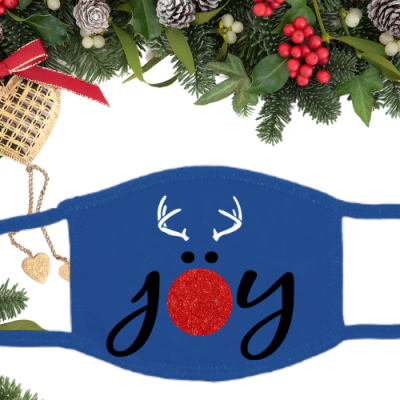 Joy Reindeer Glitter Blue