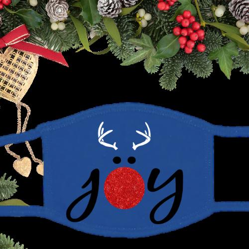 Joy Reindeer Glitter Blue