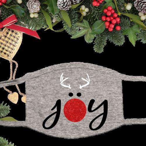 Joy Reindeer Glitter Gray