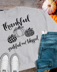 TK103-Thankful Grateful and Blessed Tshirt