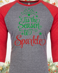 CH506-Tis The Season To Sparkle Raglan Tee