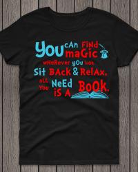 DRS1-Dr. Seuss Read A Book Tee