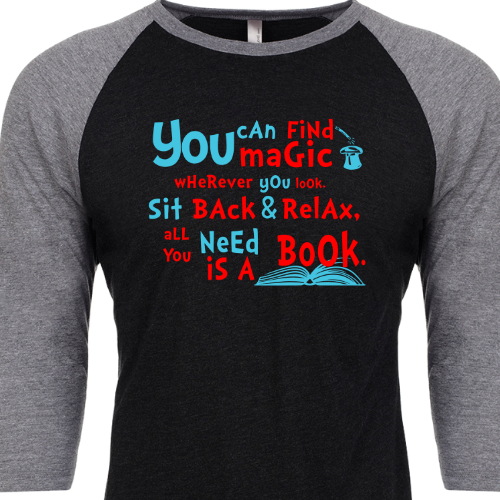 All You Need is a Book Baseball Slv