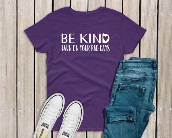 Bee Kind on Bad Days Tee Purple