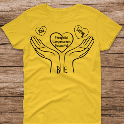 Be Kind, Loving Yellow Tee