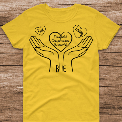 Be Kind, Loving Yellow Tee
