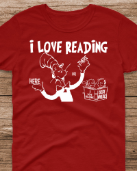 DRS2-Dr. Seuss I Love Reading Tee