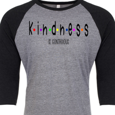 Kindness is Contagious Blk Raglan