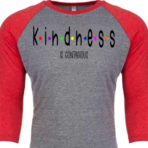 Kindness is Contagious Red Raglan
