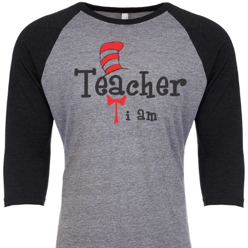 Teacher I am Baseball Slv