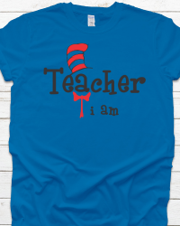 DRS3-Dr. Seuss Teacher I am Tee