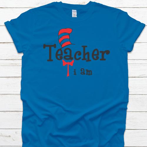 Teacher I am Sapphire Blue