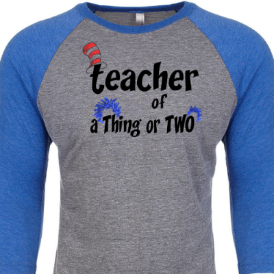 Teacher of a Thing of Two Baseball Slv