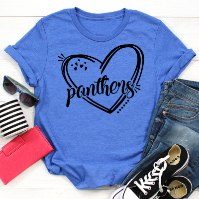 Panthers Heart Tee