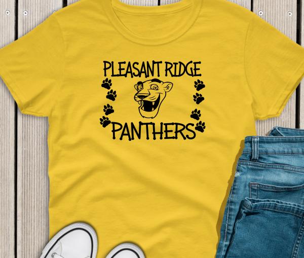 Smiling Panther Yellow Tee