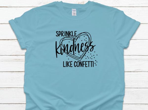 Sprinkle Kindness Blue Tee