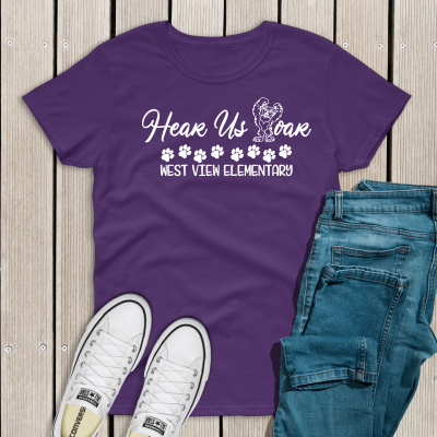 Hear us Roar Purple Tee